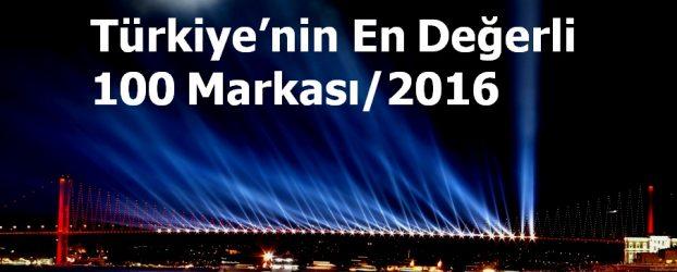 Türkiye'nin En Değerli 100 Markası – 2016