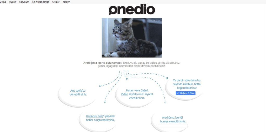 onedio-404-sayfası